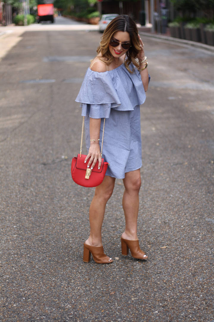 So, onto this outfit, I am totally thrilled with this off the shoulder  ruffle dress from Romwe. It's simple and flowy yet perfect for date night  dressed up ...