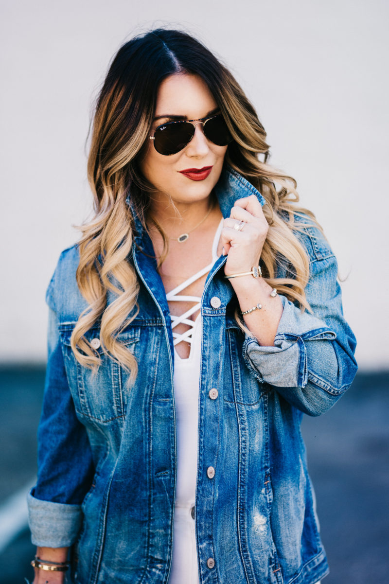 denim jacket is the perfect transitional piece