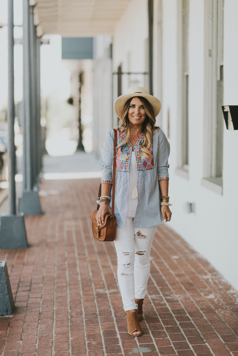 Sharing some must have embroidery tops to add to your summer wardrobe. The details are just perfect. Read more to take a look at some of my favorites.