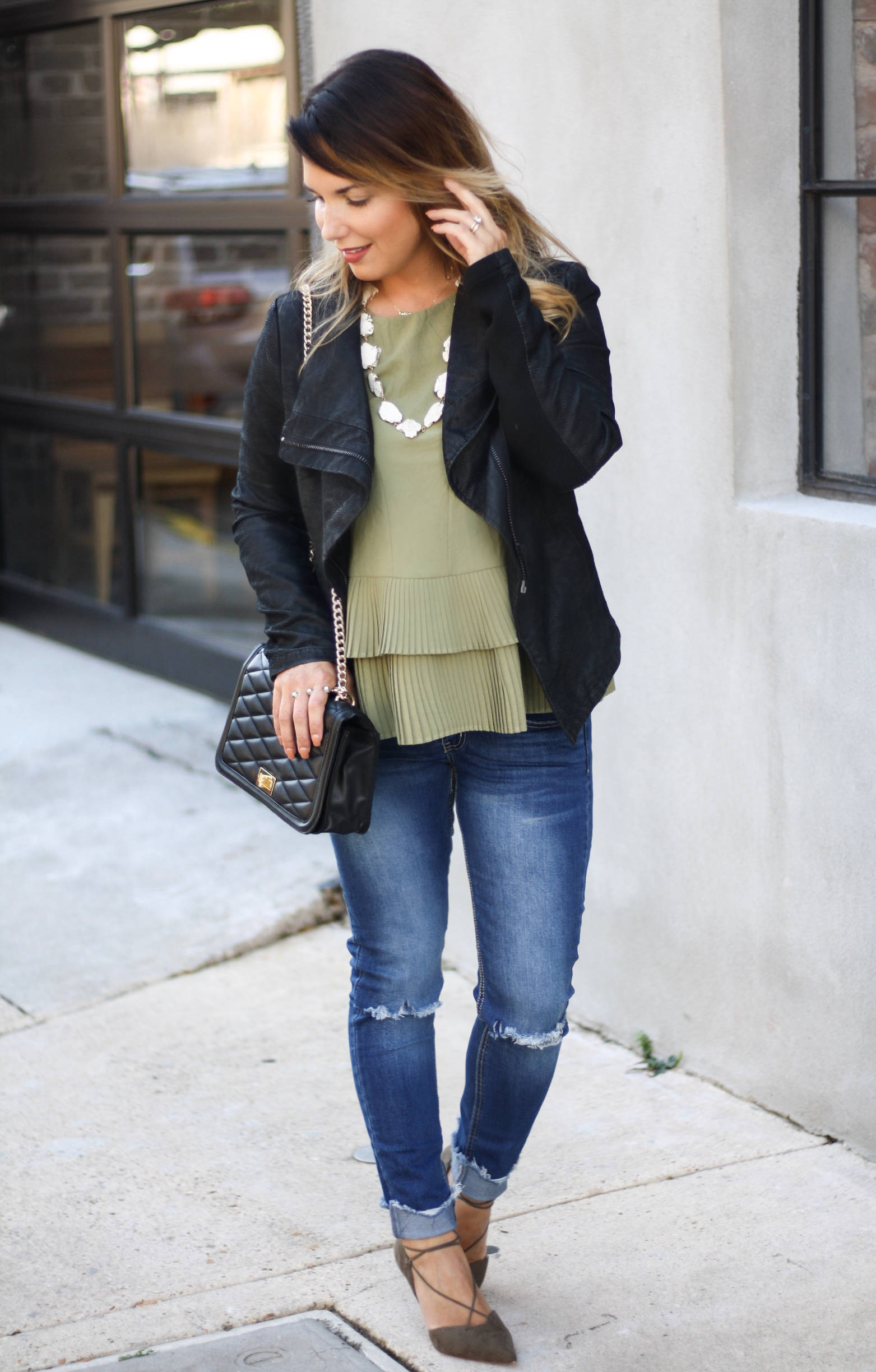 Moto jacket and basic denim