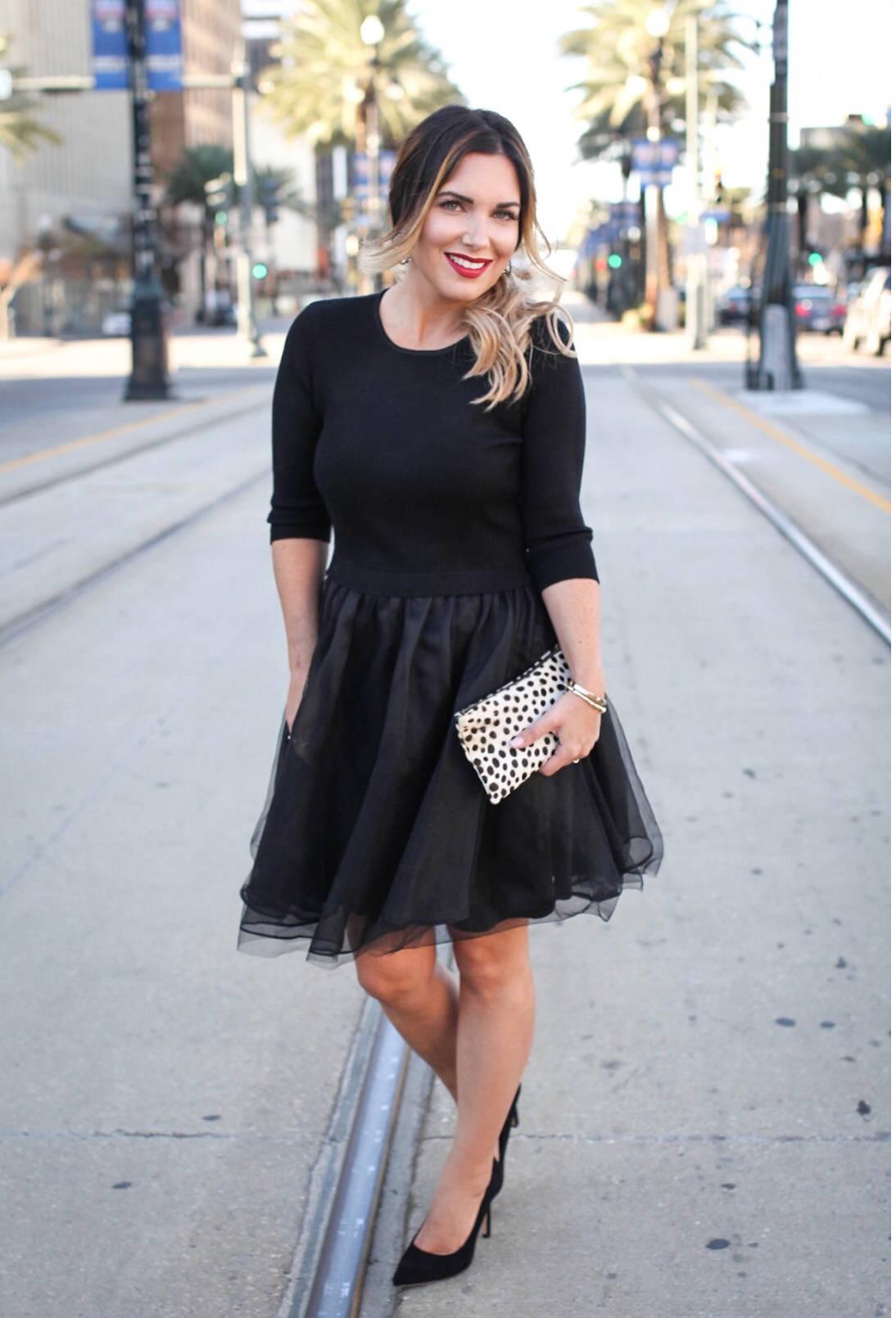 little black dress with Foi Boutique