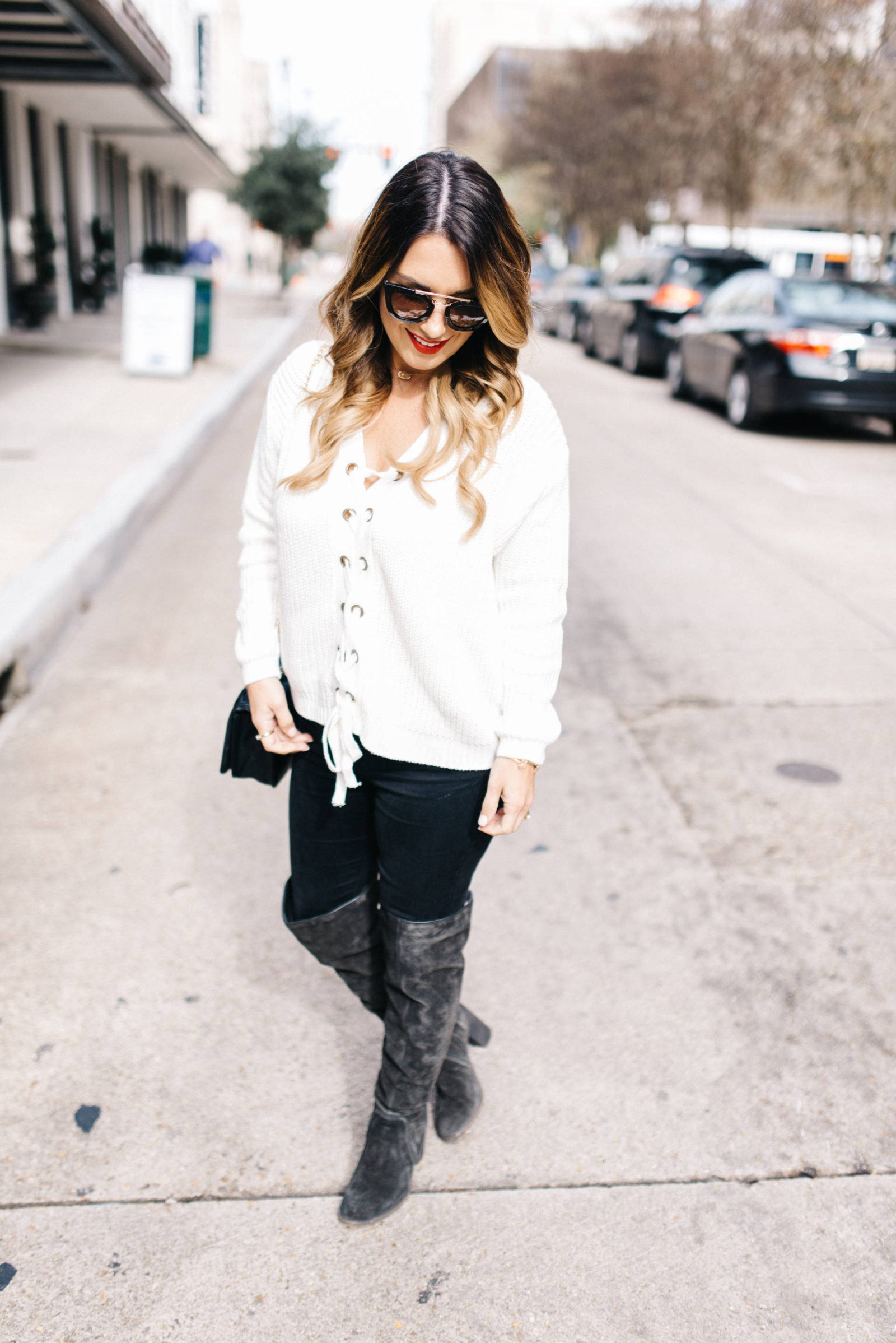 black +white look of the day