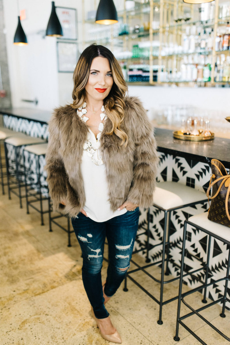 how to style a fur coat with Chicwish + date night ideas