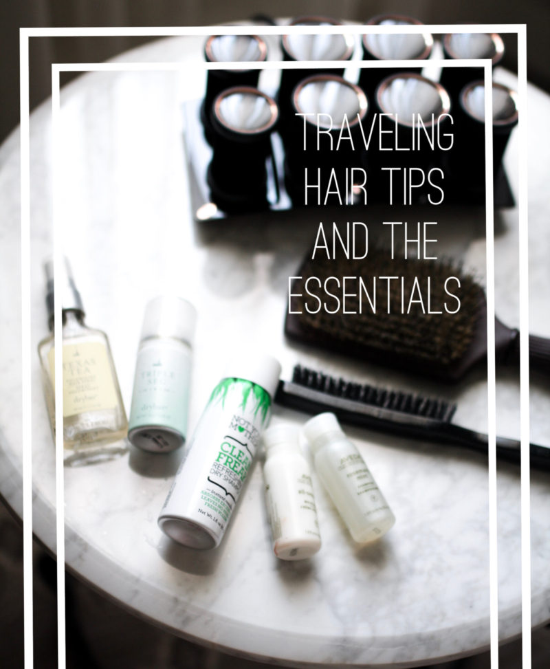 Hair tips and the essentials to cut time when traveling. Read more about the hair tools and products.