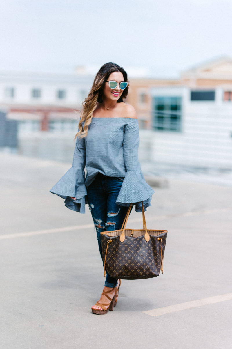 bell sleeve tops for under $45