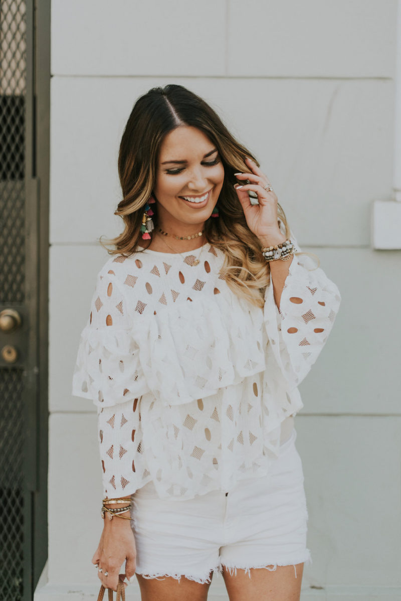 Ruffles tops for under $20. Read more to see all of my favorites that are budget friendly.
