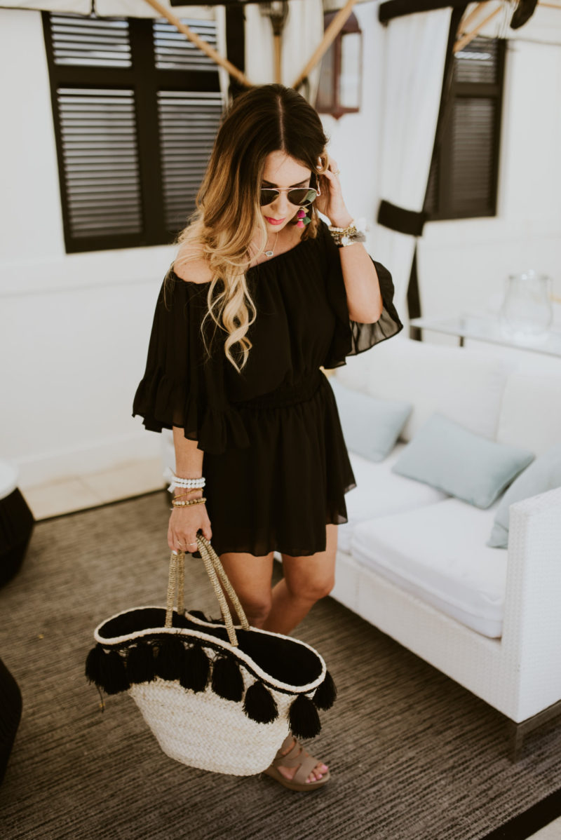 Rocked the perfect black romper while on vacation. Read more to find out all of the details about our visit to 30a