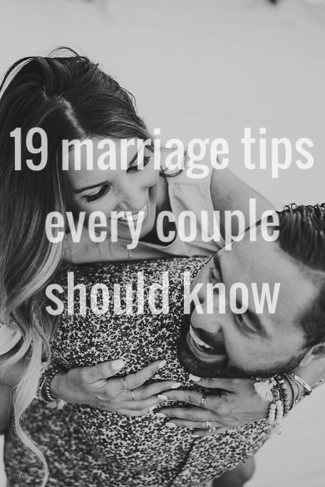 19 marriage tips for every couple. Read more to learn how to keep your marriage healthy and passionate!!