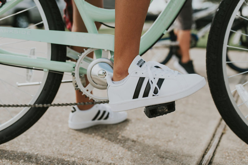 Love these Adidas shoes from Shoe Carnival for back-to-school. My daughter chose this style, but you can read more about what our whole family picked for the season on the blog with Shoe Carnival. #ad
