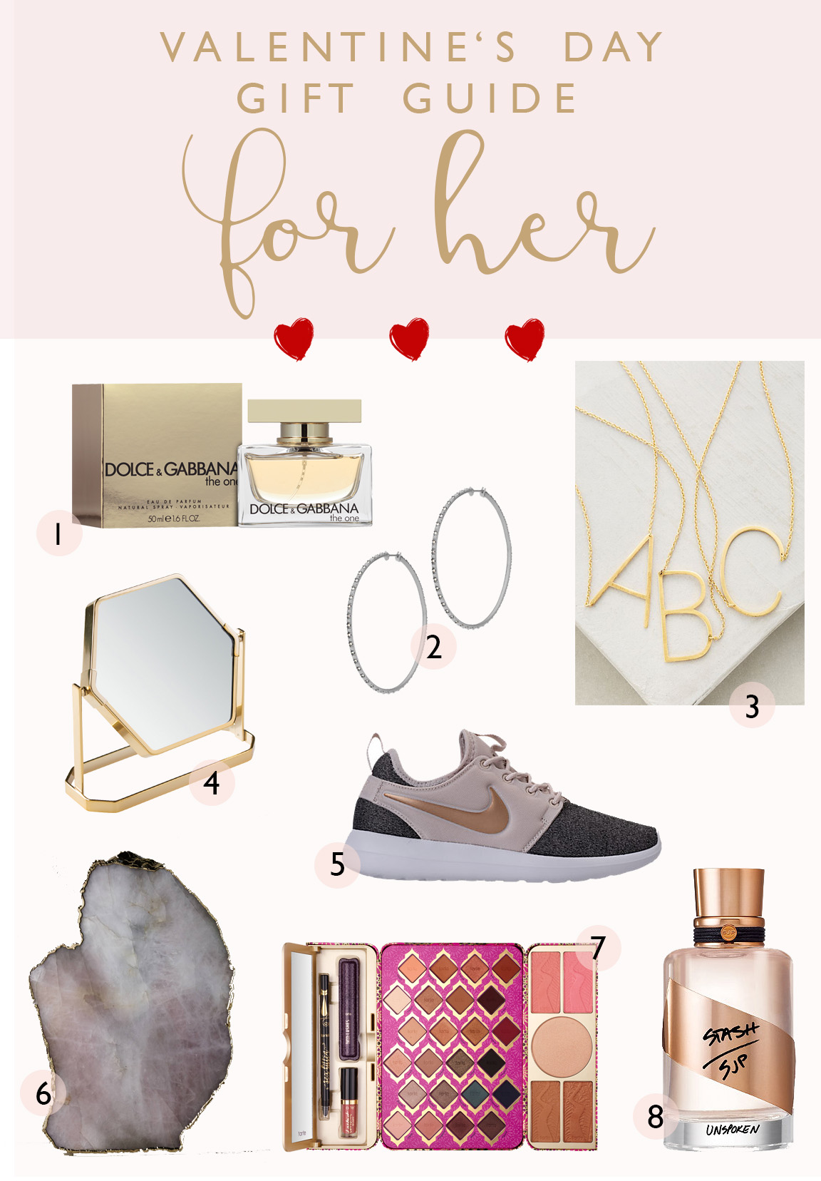 VALENTINE'S DAY gift guide FOR HER