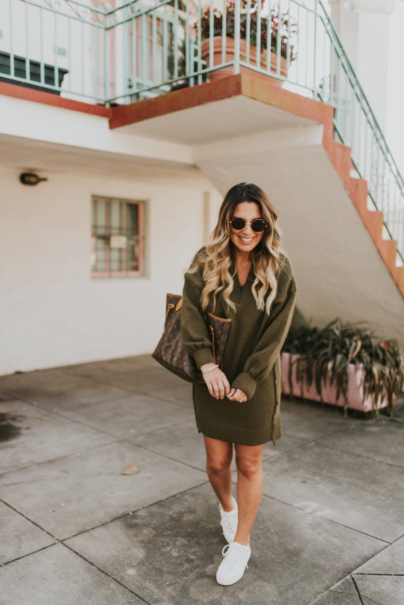 STAPLE PIECES THAT WILL CARRY YOU FROM WINTER INTO SPRING. PAIR SWEATER DRESSES AND TENNIS SHOES ON THOSE WARMER DAYS.