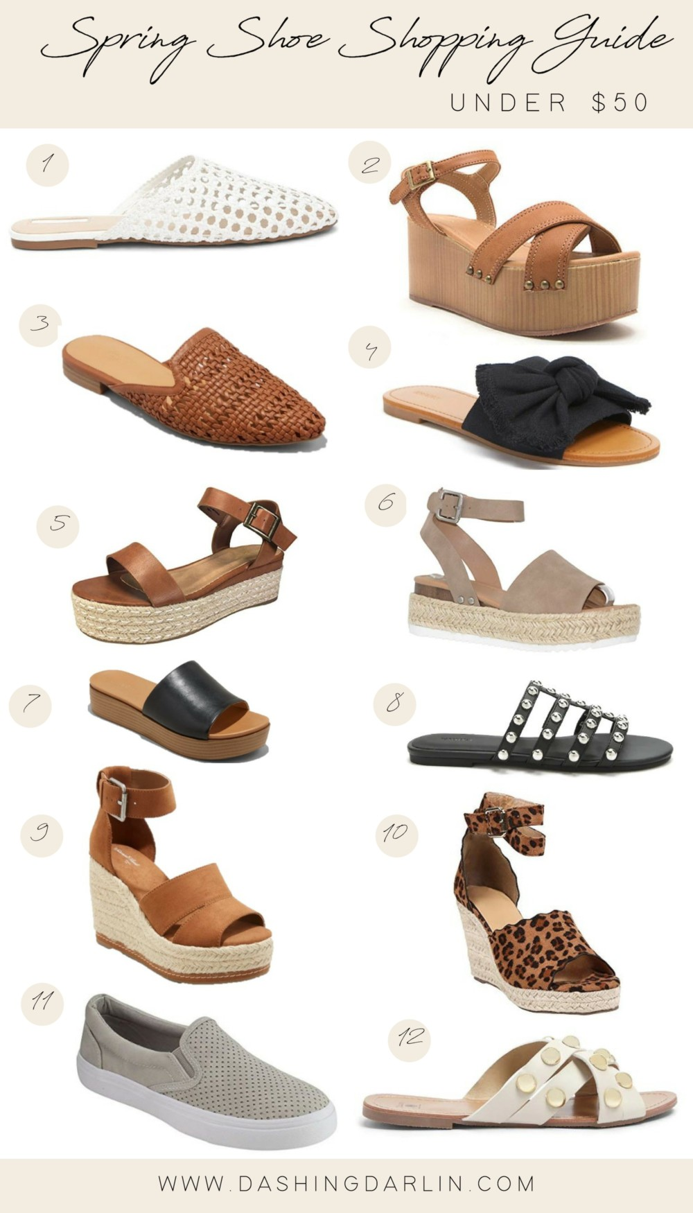 SPRING SHOE SHOPPING GUIDE UNDER $50