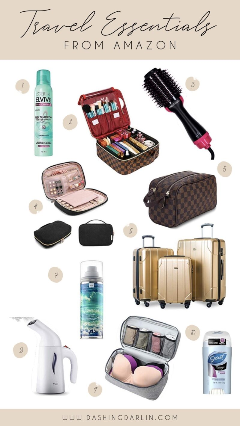 SHARING MY FAVORITE LUGGAGE, TRAVELING BAGS, STEAMER AND MORE. MY FAVORITE TRAVEL NECESSITIES ARE ON THE BLOG.