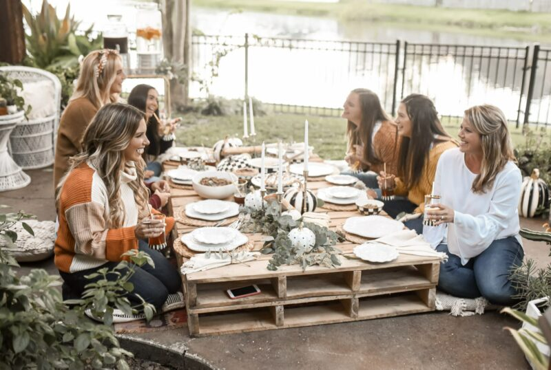 I wanted to give you a peek at how I styled my key pieces in my house after the backyard party. Each item pairs perfectly with all of my boho decor in our home. See more on the blog for friendsgiving ideas.