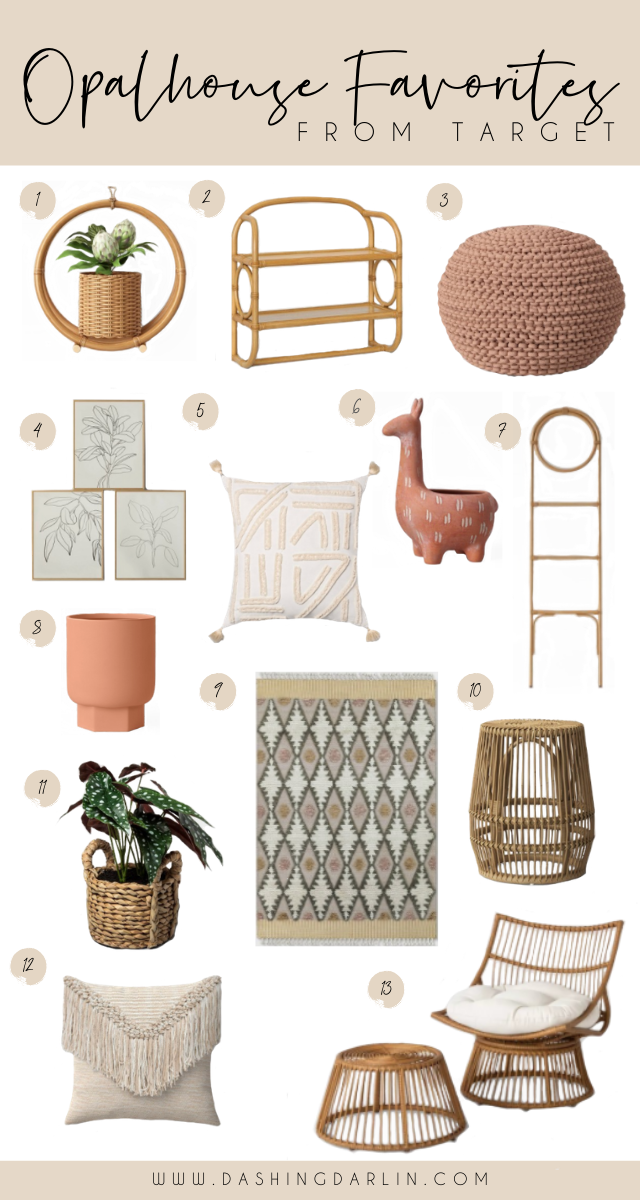 BUDGET FRIENDLY HOME DECOR FINDS from Target that are on trend. Throw pillows, rug, rattan shelves, and more are on the blog.