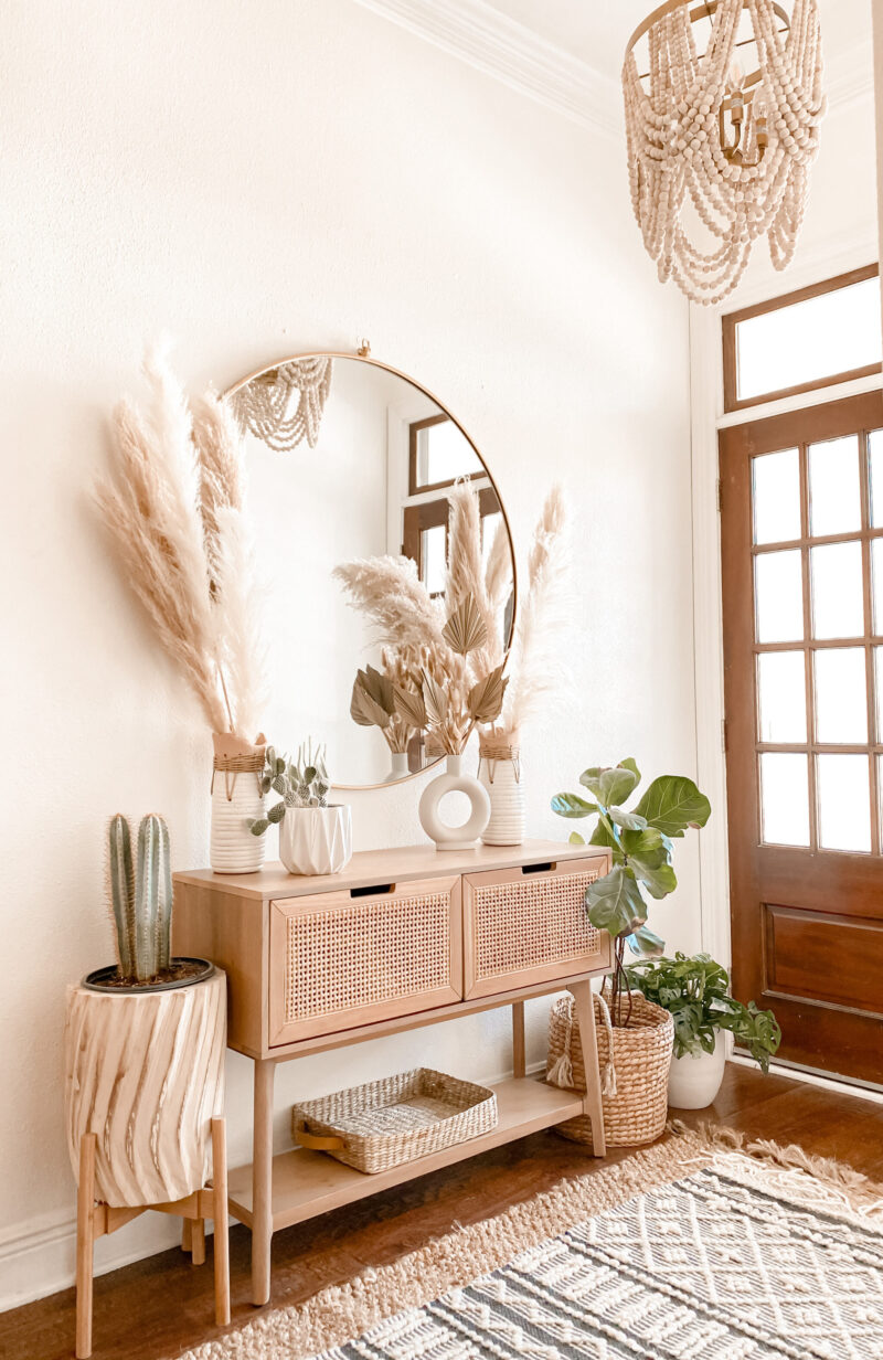 BOHEMIAN TRENDING TEXTURES FOR THE HOME ~ ROUNDED UP MY FAVORITE RATTAN & CANE HOME DECOR FINDS