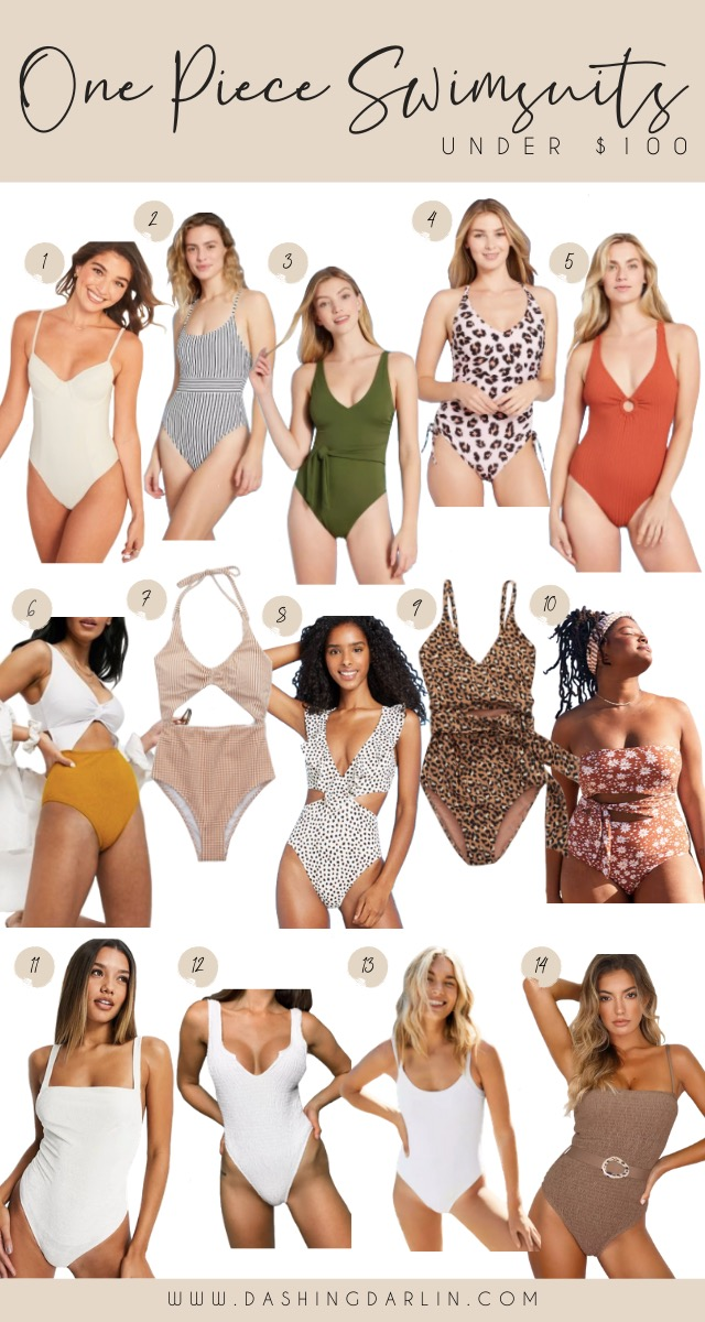 ROUNDED UP MY FAVORITE ONE PIECE SWIMSUITS AND TWO PIECE SWIMSUITS FOR SPRING AND SUMMER - AFFORDABLE SWIMSUITS - VACATION STYLE