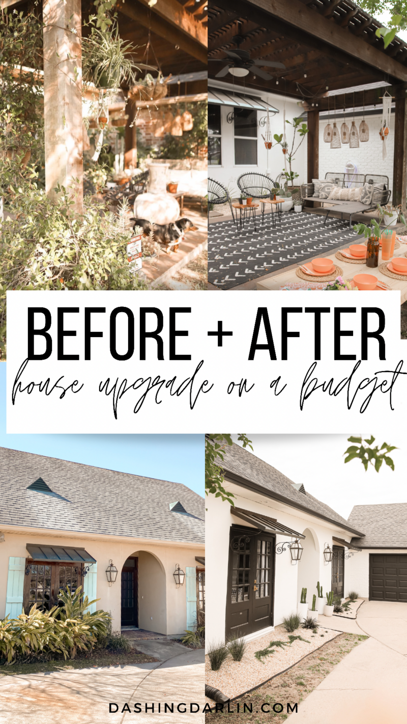 BLACK + WHITE HOUSE UPDATE ~ DETAILS ABOUT HOW WE GAVE OUR HOUSE A FACELIFT WITH OUR FAVORITE SHERWIN WILLIAMS PAINT COLORS.